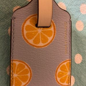 Coach leather luggage citrus tag new